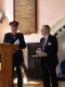 <p>Here is The Lord-Lieutenant for Norfolk is Mr Richard Jewson, J.P.presenting the Queens Award For Volunteers to Mike Sarre</p>